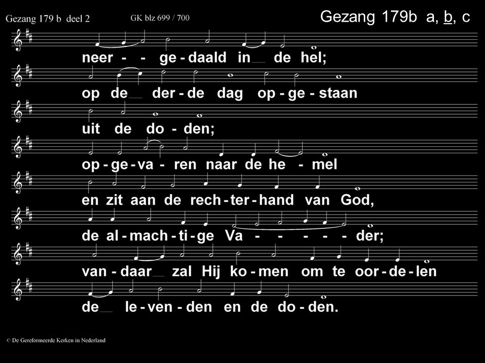 Gezang 179b a, b, c