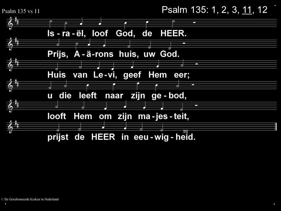 . Psalm 135: 1, 2, 3, 11, 12 . .