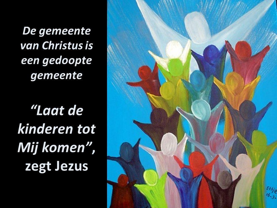 De gemeente van Christus is een gedoopte gemeente Laat de kinderen tot Mij komen , zegt Jezus