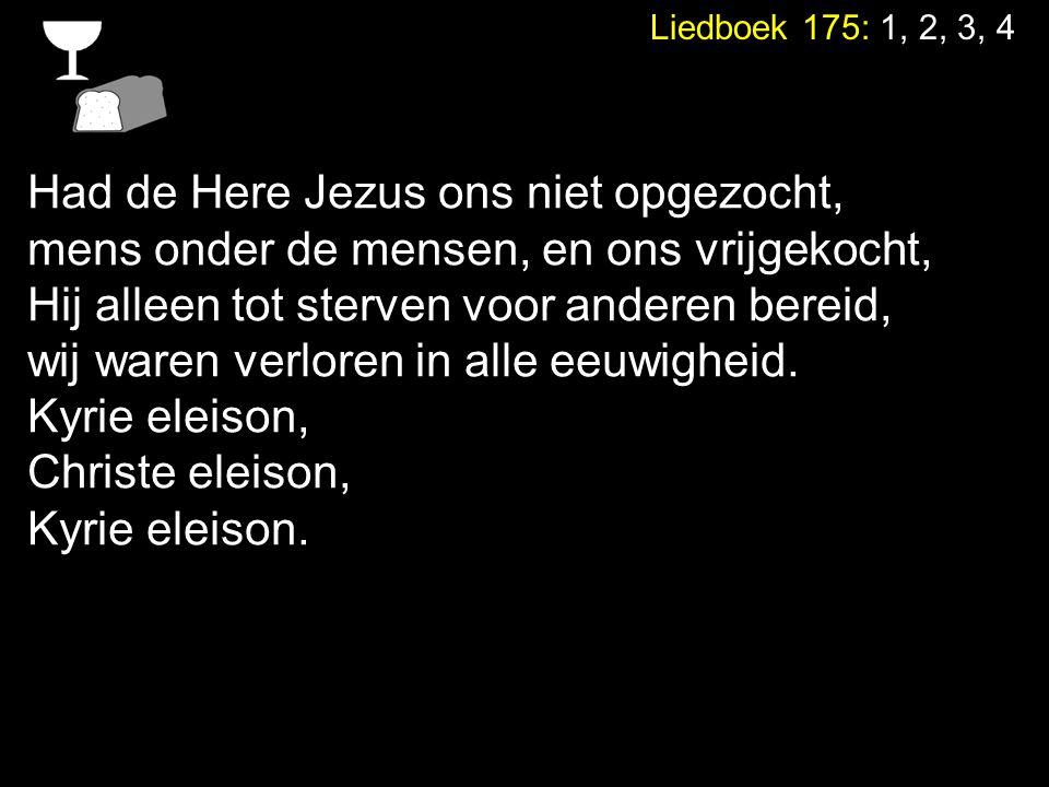 Had de Here Jezus ons niet opgezocht,