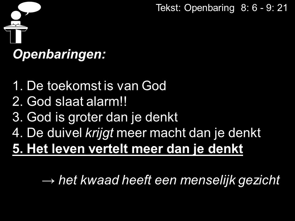 3. God is groter dan je denkt