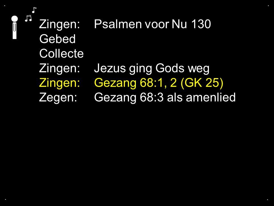 Zingen: Psalmen voor Nu 130 Gebed Collecte