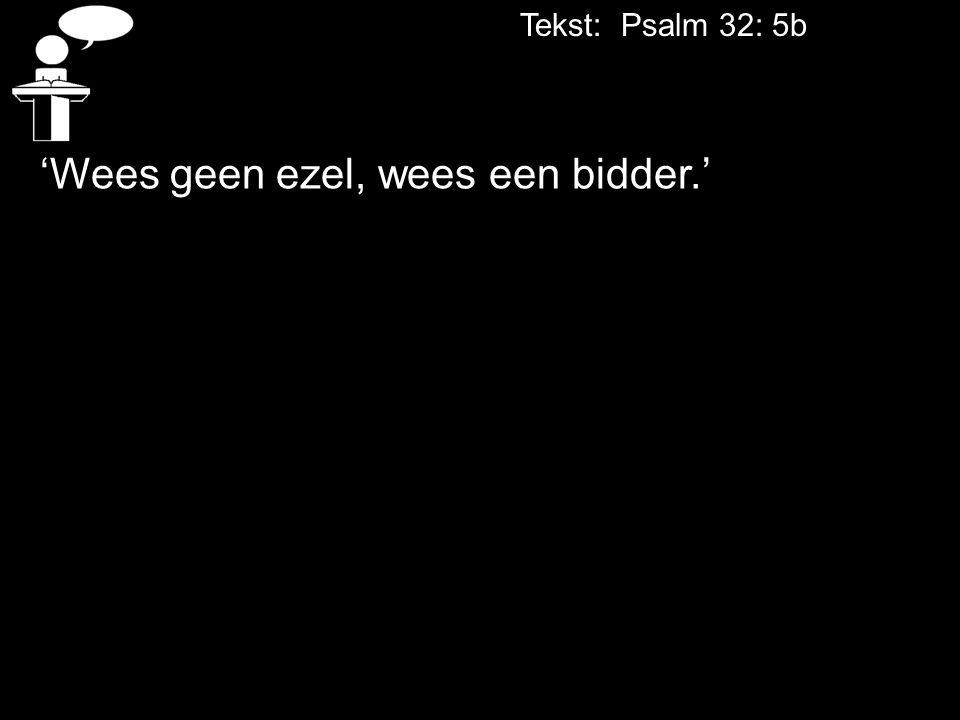 'Wees geen ezel, wees een bidder.'