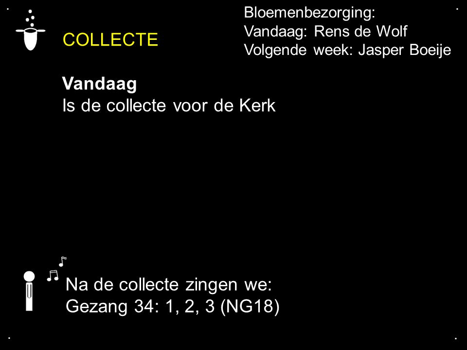 Is de collecte voor de Kerk