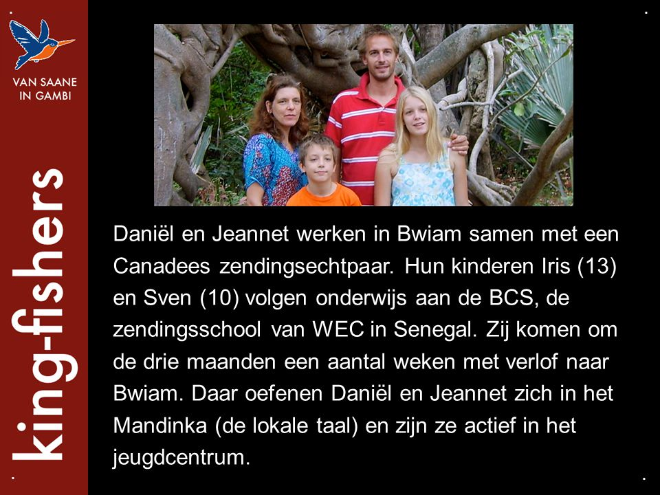 Daniël en Jeannet werken in Bwiam samen met een