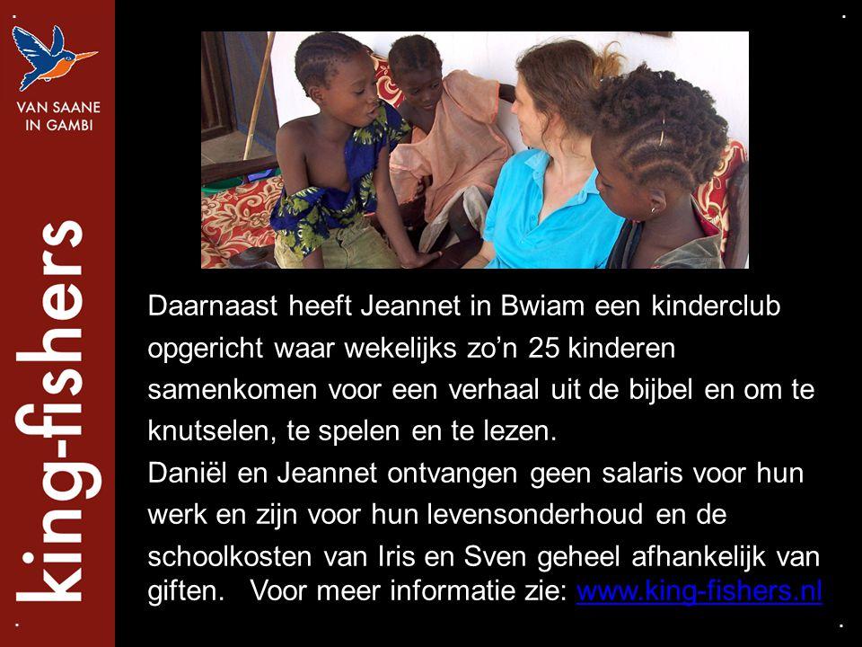 Daarnaast heeft Jeannet in Bwiam een kinderclub