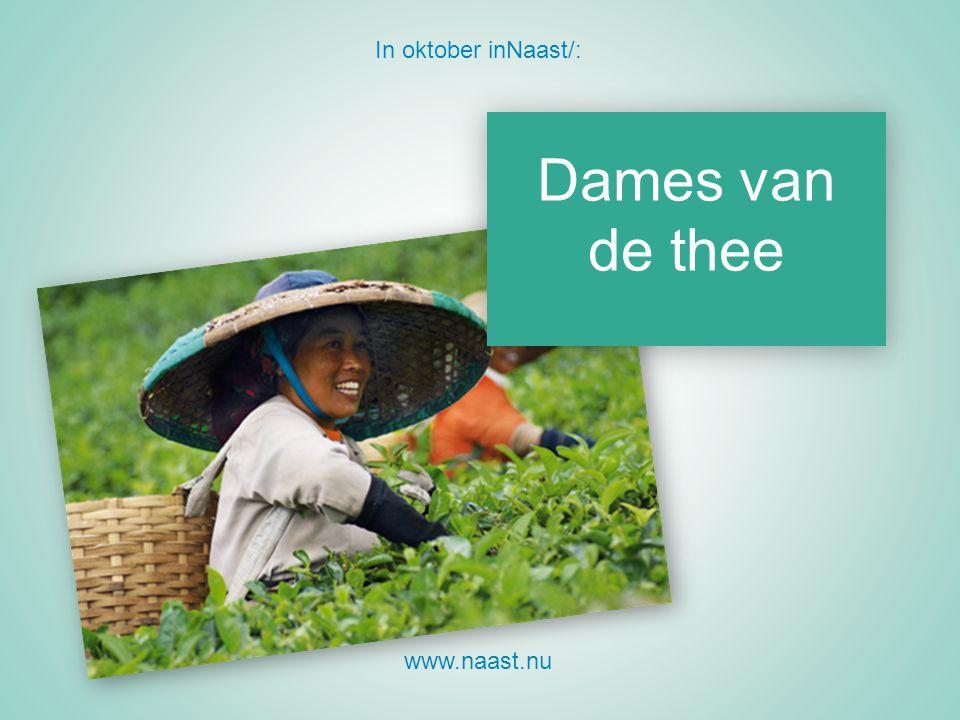 In oktober inNaast/: Dames van de thee www.naast.nu