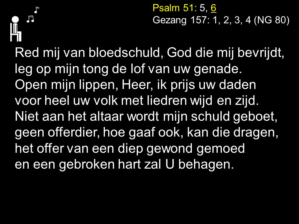 Red mij van bloedschuld, God die mij bevrijdt,