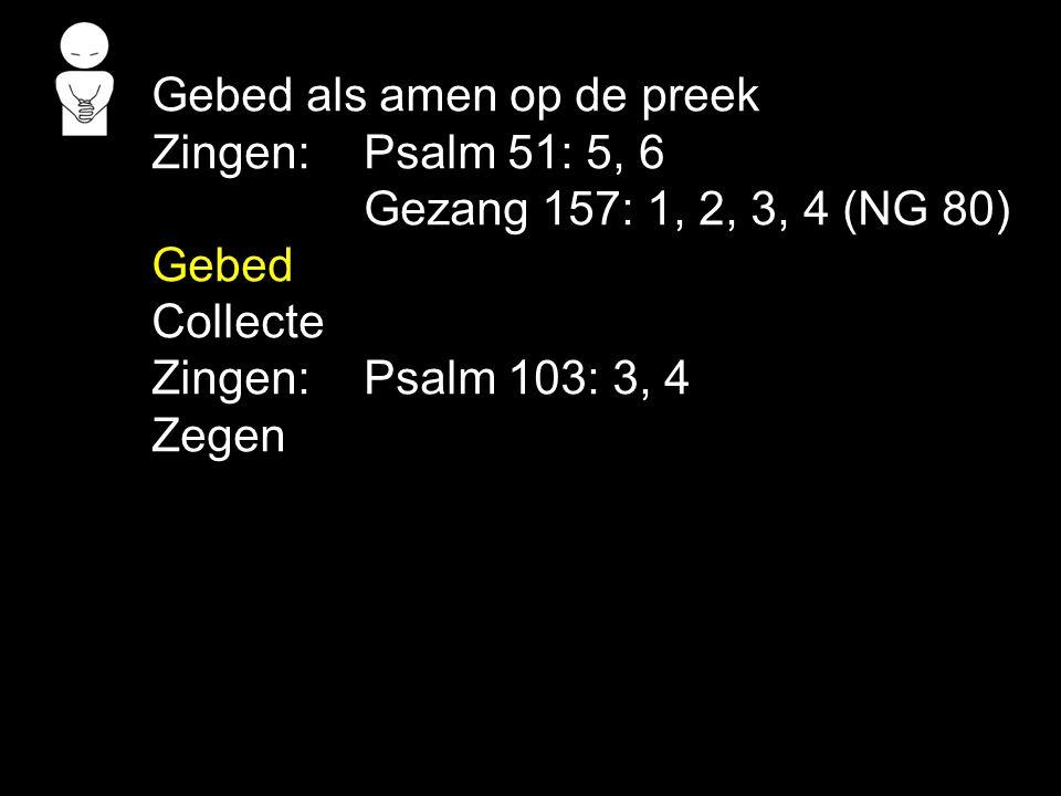 Gebed als amen op de preek