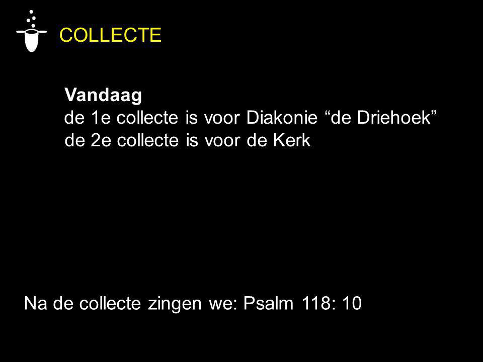 COLLECTE Vandaag de 1e collecte is voor Diakonie de Driehoek