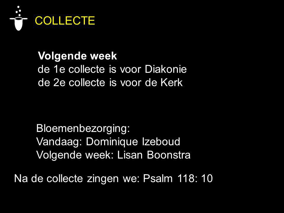 COLLECTE Volgende week de 1e collecte is voor Diakonie