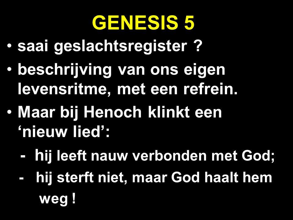 GENESIS 5 saai geslachtsregister