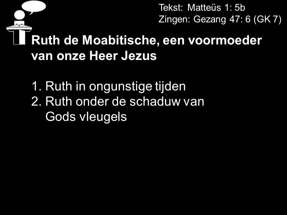Ruth de Moabitische, een voormoeder van onze Heer Jezus
