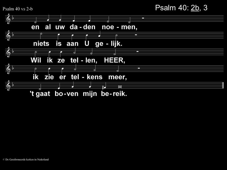 Psalm 40: 2b, 3a