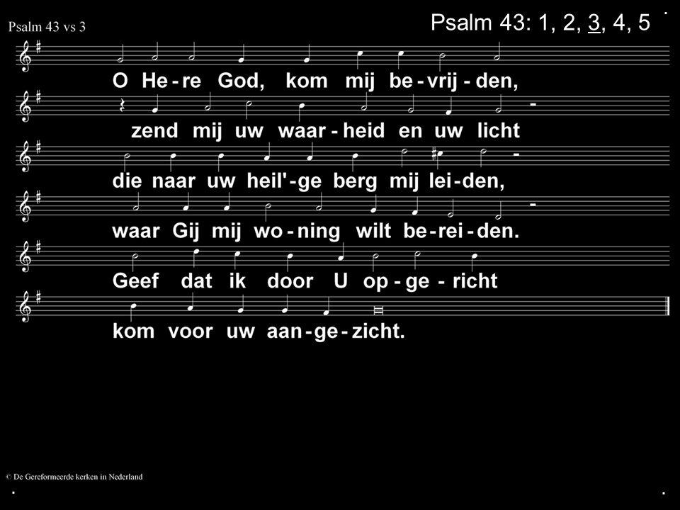 . Psalm 43: 1, 2, 3, 4, 5 . .