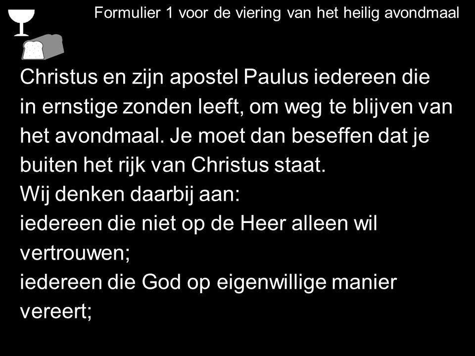 Christus en zijn apostel Paulus iedereen die