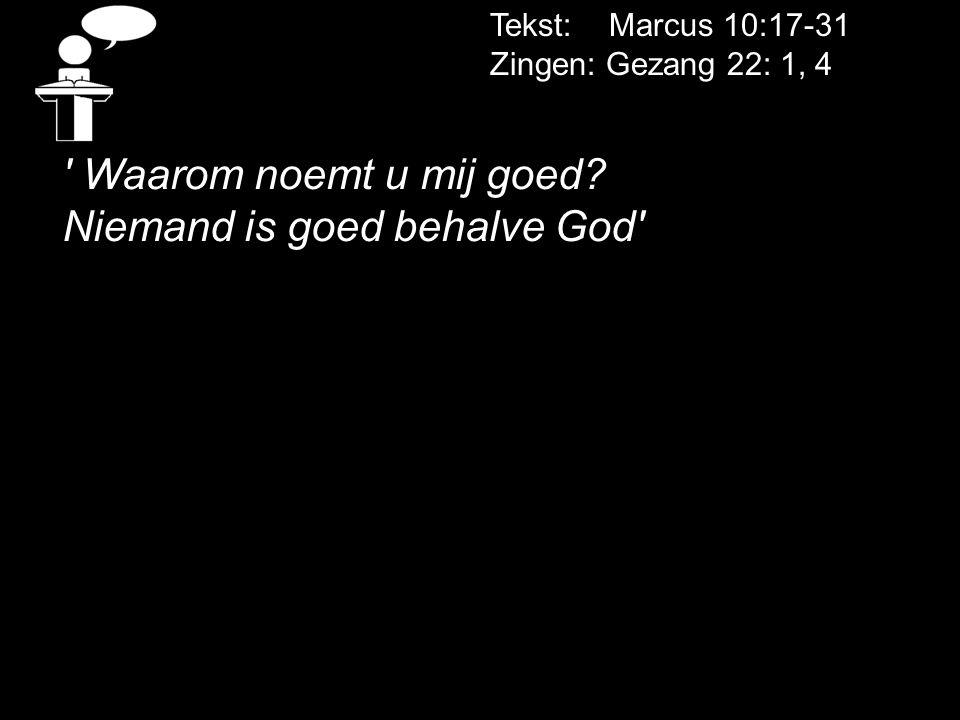 Niemand is goed behalve God