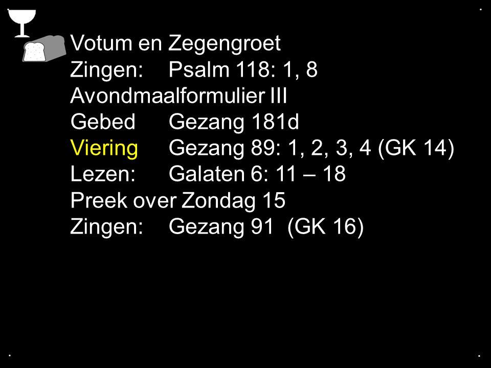 Avondmaalformulier III Gebed Gezang 181d