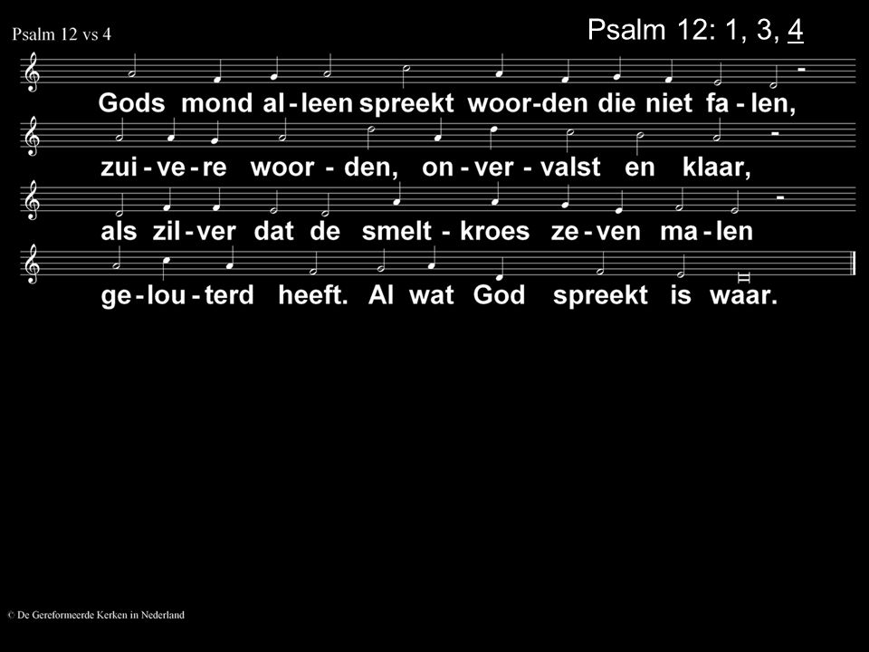 Psalm 12: 1, 3, 4