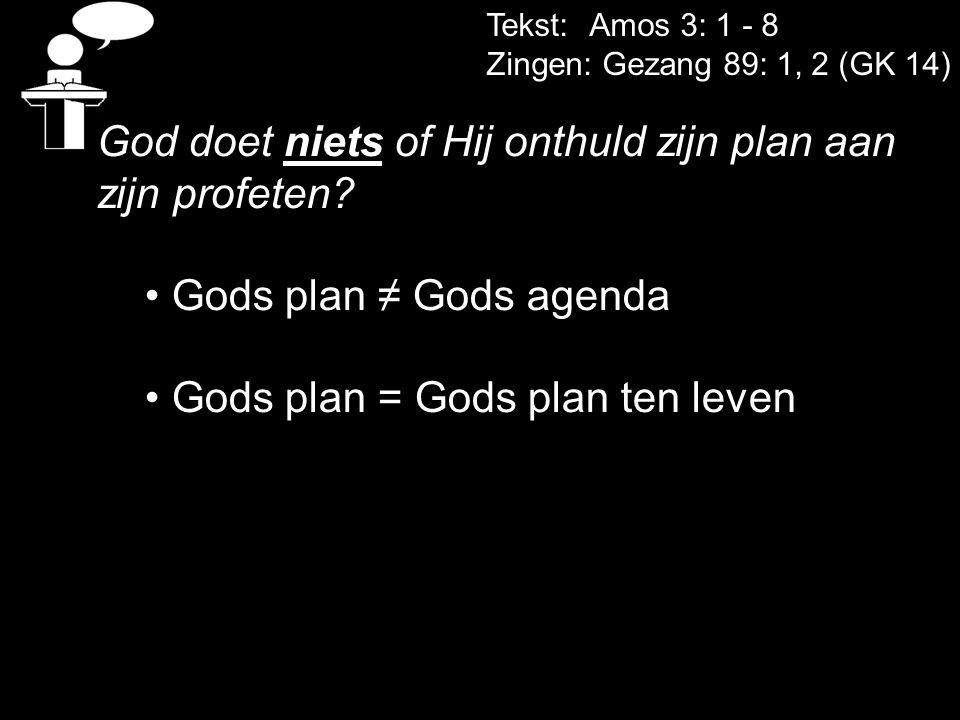 God doet niets of Hij onthuld zijn plan aan zijn profeten