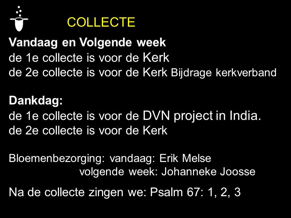 Vandaag en Volgende week de 1e collecte is voor de Kerk