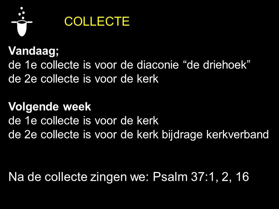 Na de collecte zingen we: Psalm 37:1, 2, 16
