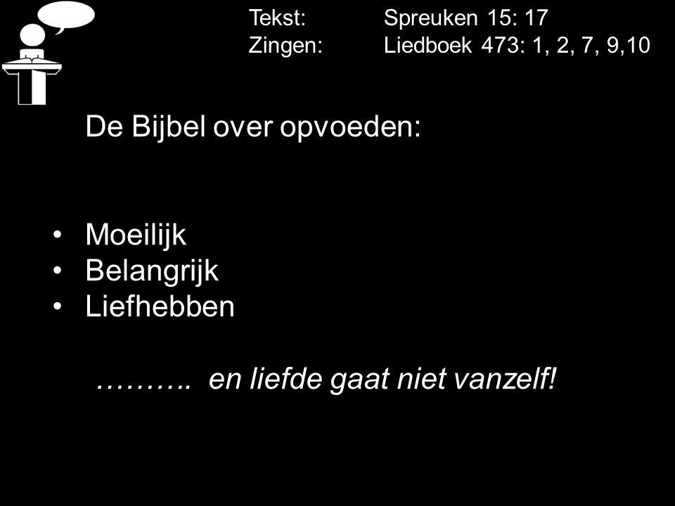 De Bijbel over opvoeden: