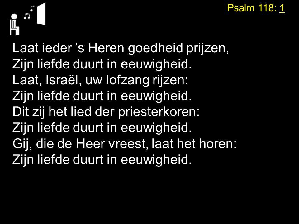 Psalm 118: 1