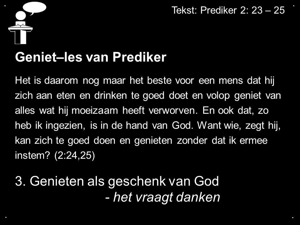 Geniet–les van Prediker