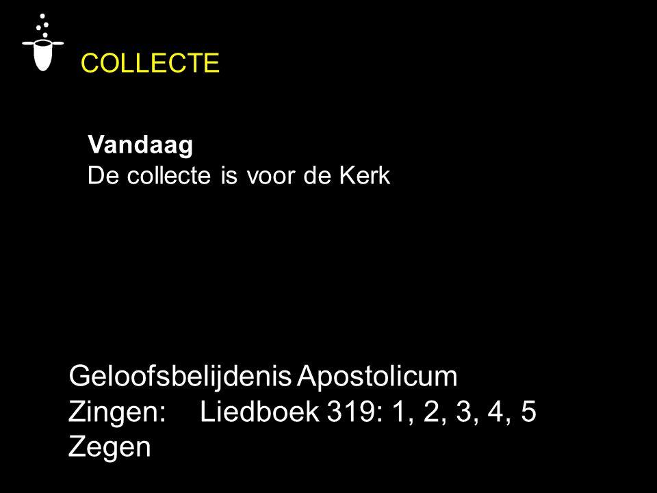 Geloofsbelijdenis Apostolicum Zingen: Liedboek 319: 1, 2, 3, 4, 5