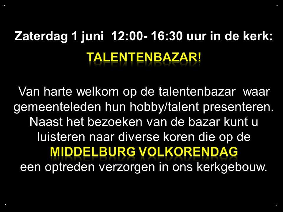 Zaterdag 1 juni 12:00- 16:30 uur in de kerk: TALENTENBAZAR!