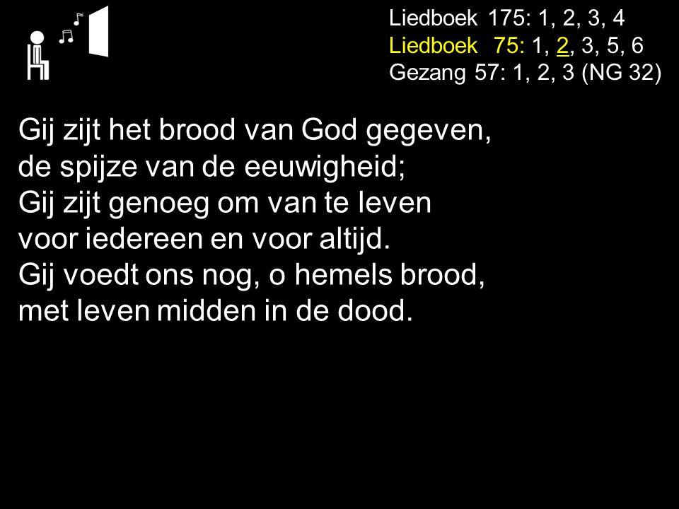 Gij zijt het brood van God gegeven, de spijze van de eeuwigheid;
