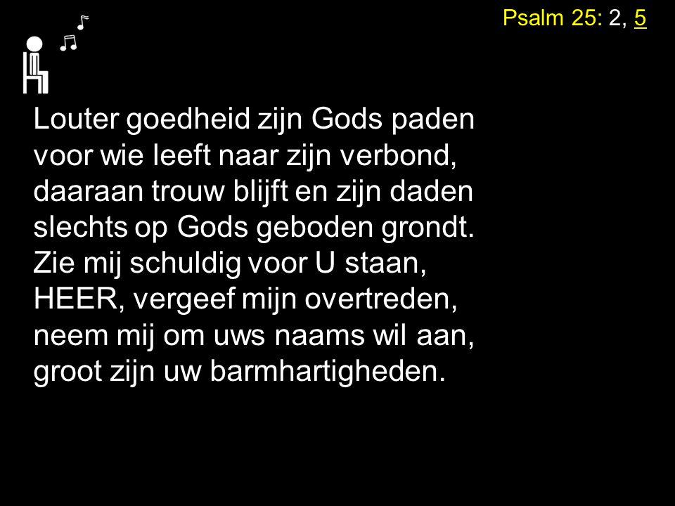 Louter goedheid zijn Gods paden voor wie leeft naar zijn verbond,