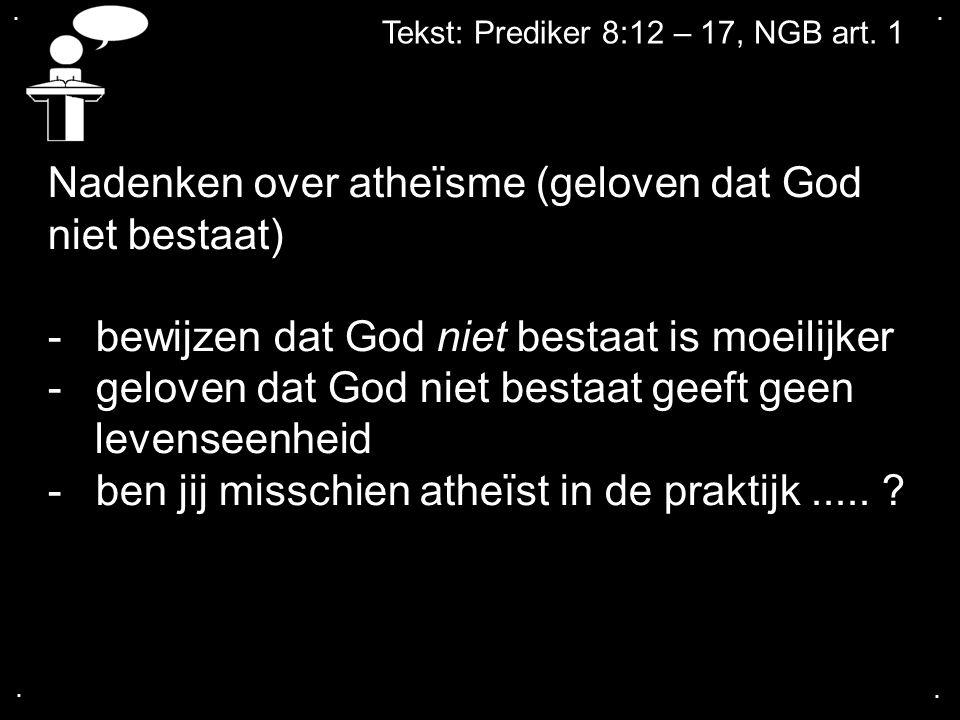 Nadenken over atheïsme (geloven dat God niet bestaat)