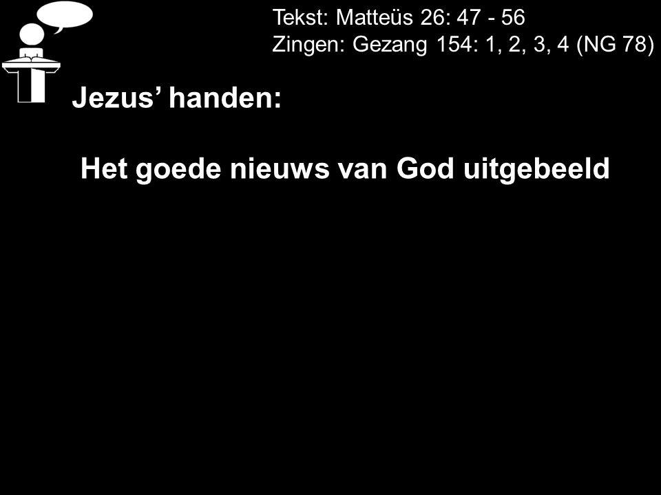Het goede nieuws van God uitgebeeld