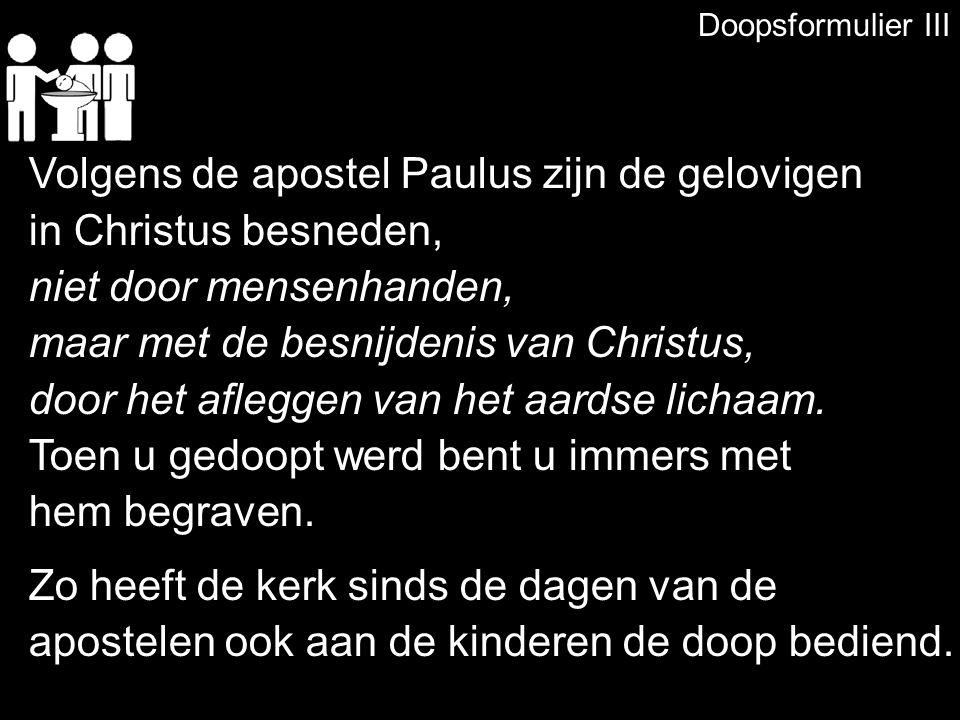 Volgens de apostel Paulus zijn de gelovigen in Christus besneden,