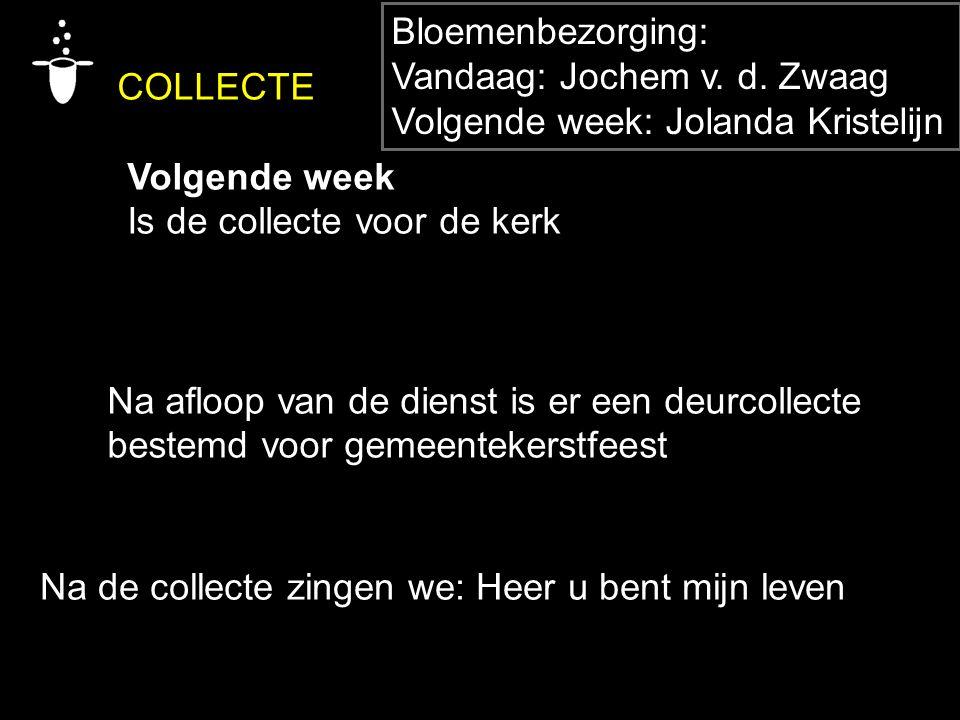 COLLECTE Bloemenbezorging: Vandaag: Jochem v. d. Zwaag