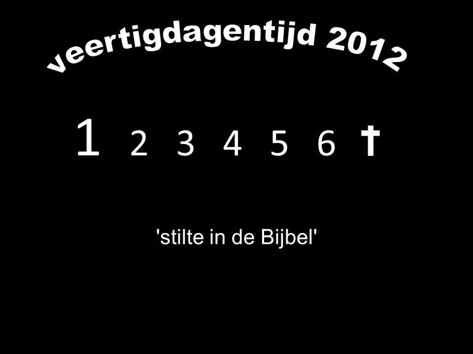 veertigdagentijd 2012 1 2 3 4 5 6 stilte in de Bijbel