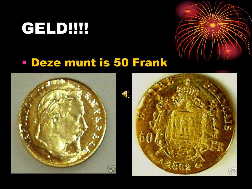 GELD!!!! Deze munt is 50 Frank