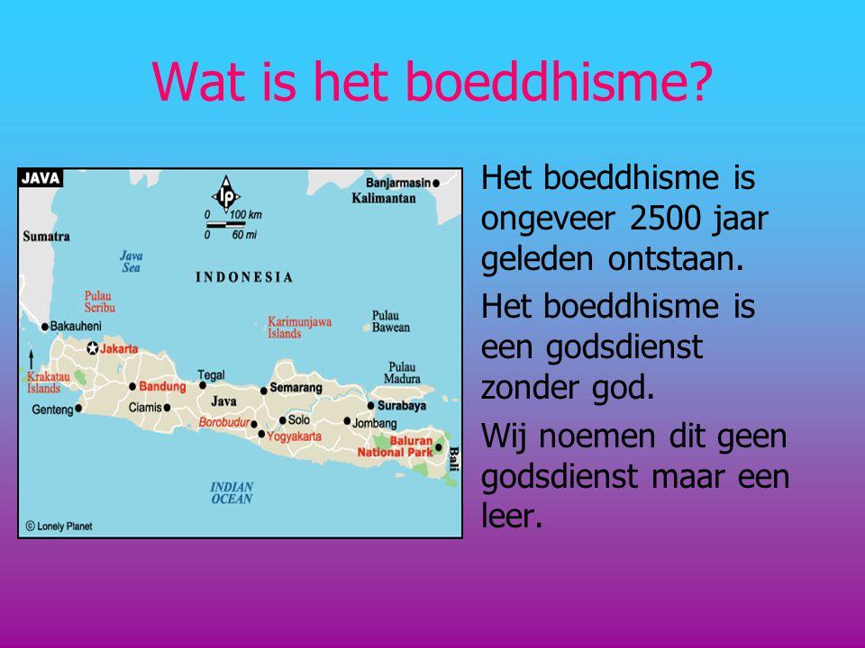 Wat is het boeddhisme Het boeddhisme is ongeveer 2500 jaar geleden ontstaan. Het boeddhisme is een godsdienst zonder god.