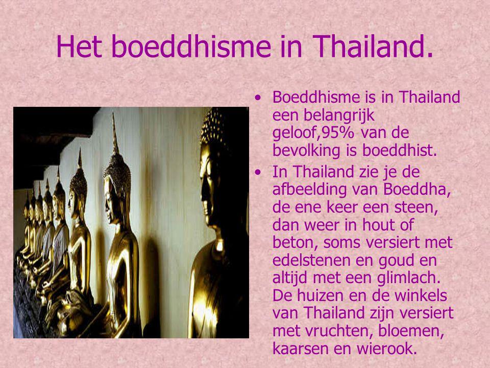Het boeddhisme in Thailand.
