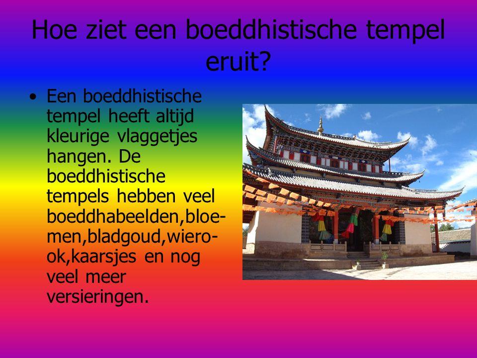 Hoe ziet een boeddhistische tempel eruit