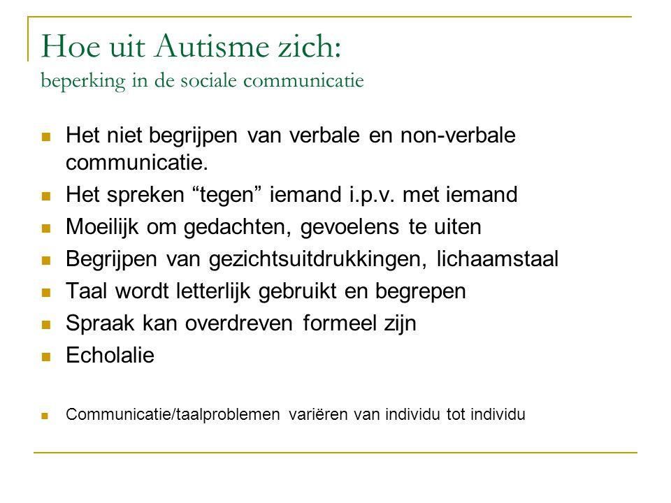Hoe uit Autisme zich: beperking in de sociale communicatie