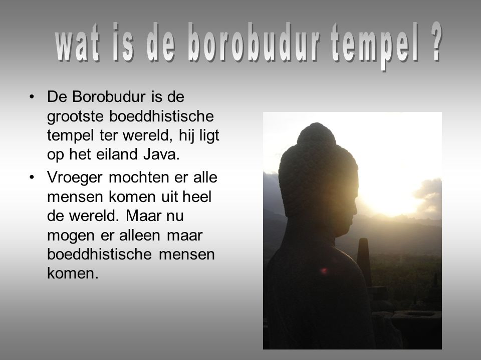 wat is de borobudur tempel