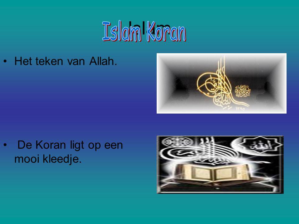 Islam Islam Koran Het teken van Allah.