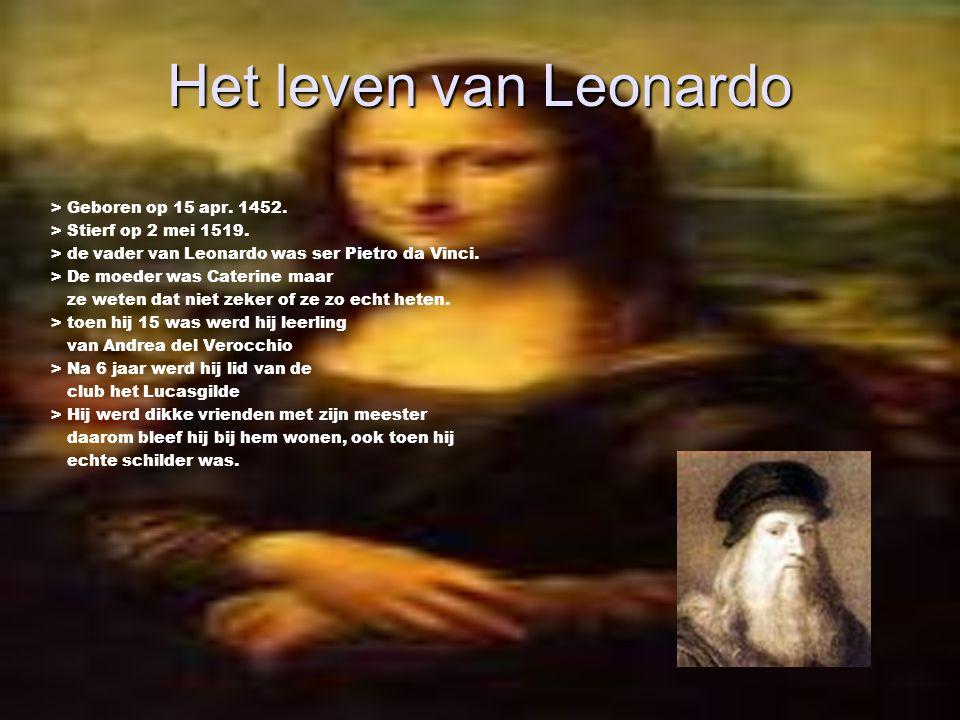 Het leven van Leonardo > Geboren op 15 apr. 1452.