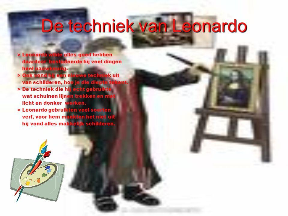 De techniek van Leonardo