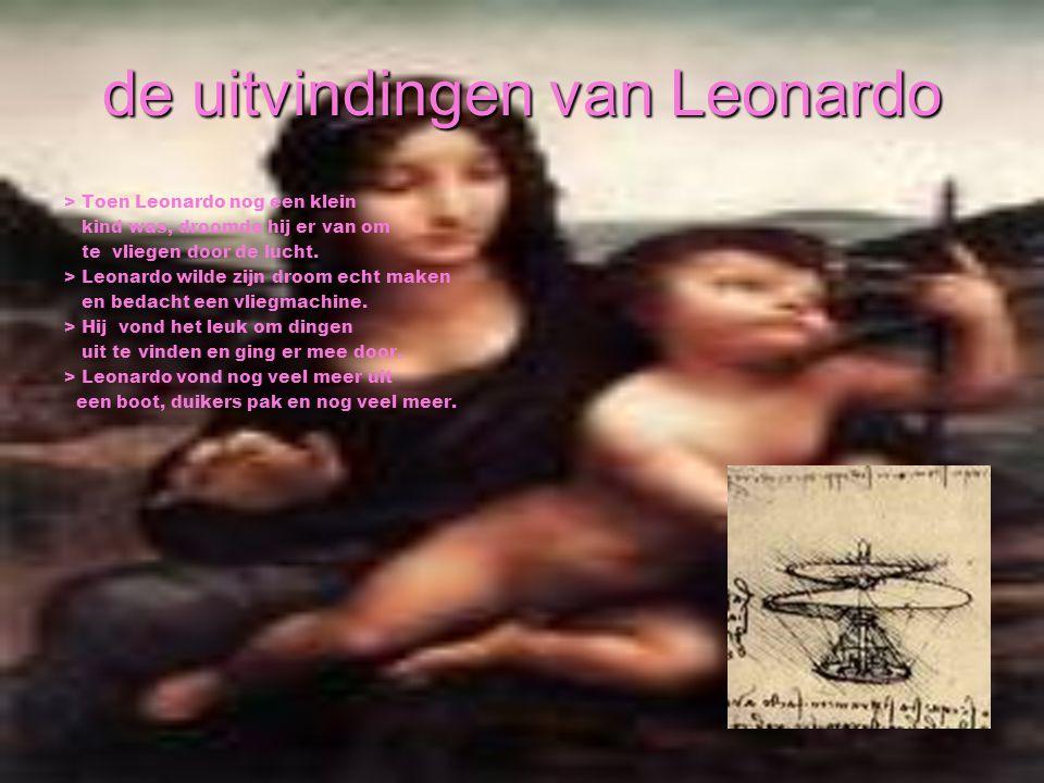de uitvindingen van Leonardo