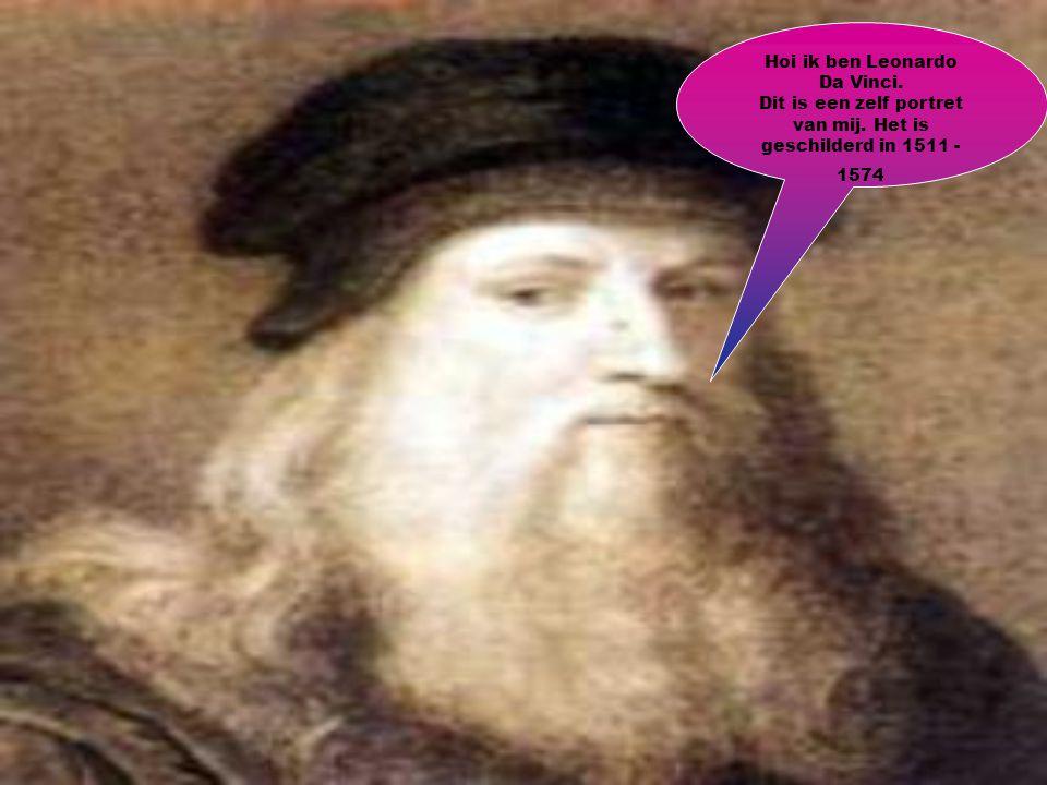 Dit is een zelf portret van mij. Het is geschilderd in 1511 - 1574