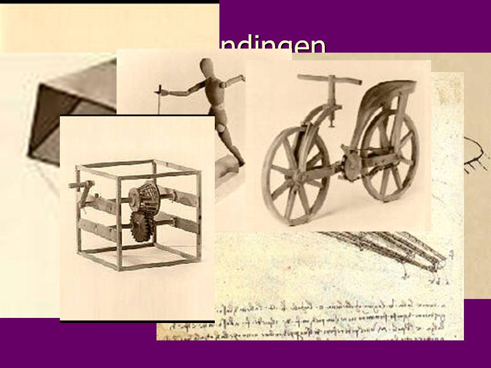 uitvindingen Leonardo da Vinci was naast een schilder ook een uitvinder. Voorbeelden van zijn uitvindingen zijn: